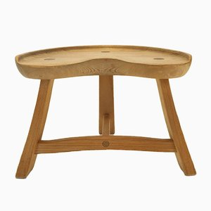Scandinavian Pinewood Stool from Krogenäs Möbler, 1960s