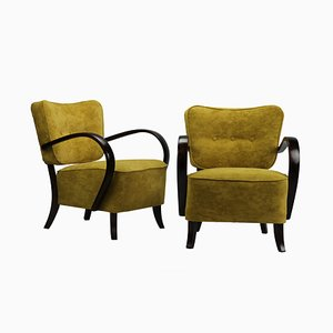 Art Deco Model H237 Armchairs by Jindřich Halabala for UP Závody, 1930s, Set of 2