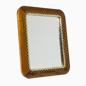 Mid-Century Swedish Mahogany Table Mirror, 1950s