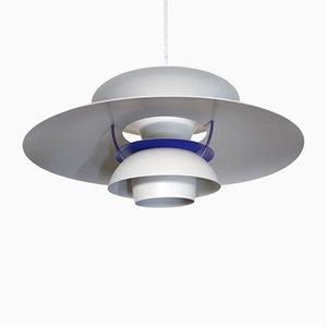 Vintage White Model PH5 Ceiling Lamp by Poul Henningsen for Louis Poulsen, 1980s