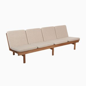 Oak 4-Seater Model 219 Sofa Bench by Børge Mogensen for Fredericia, 1966