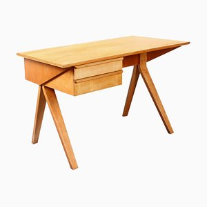 Birch Model EB02 Desk by Cees Braakman for Pastoe, 1950s