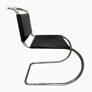Leather Model MR10 Dining Chairs by Ludwig Mies van der Rohe, 1970s, Set of 4