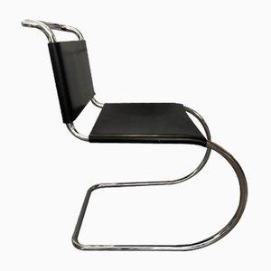 Modell MR10 Esszimmerstühle aus Leder von Ludwig Mies van der Rohe, 1970er, 4er Set