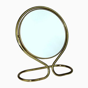 Brass Table or Wall Mirror, 1950s