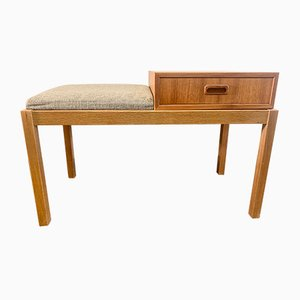 Mid-Century Swedish Telephone Bench with Drawer, 1960s