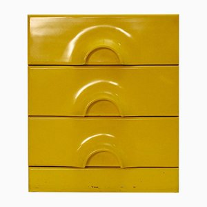 Pop Art Italian Yellow Chest of Drawers, 1970s
