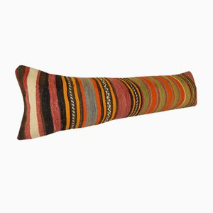 Long Hippie Kilim Lumbar Cushion Cover