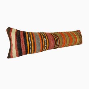 Long Hippie Kilim Lumbar Cushion Cover