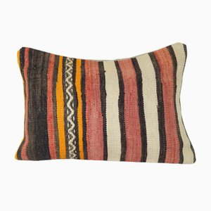 Striped Lumbar Kilim Cushion Cover