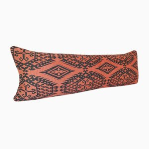 Red Turkish Kilim Cushion Cover