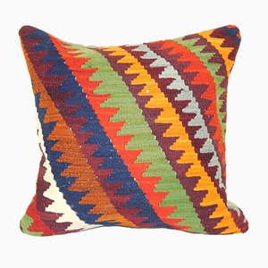 Handmade Square Geometrical Turkish Cushion Cover
