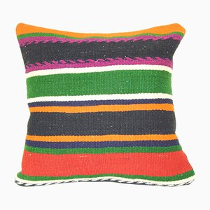 Square Turkish Kilim Cushion Cover