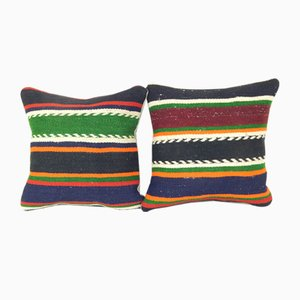 Pair Turkish Kilim Cushion Cover