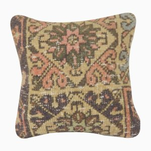 Distressed Small Turkish Rug Cushion Cover