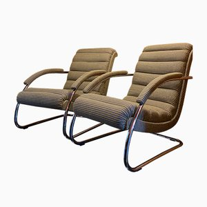 Bauhaus Tubular Steel Model K32 Armchairs by Robert Slezak for Slezak, Set of 2