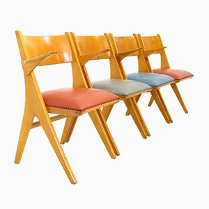 Model Penguin Chairs by C. Sasse for Casala, 1950s, Set of 4