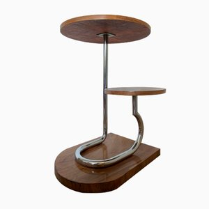 Bauhaus Tubular Steel Side Table, 1930s