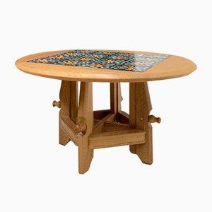 Adjustable Ceramic Decor Coffee Table by Guillerme et Chambron for Votre Maison, 1960s