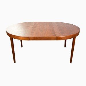 Mesa de comedor danesa extensible de teca de Harry Østergaard para Randers Møbelfabrik, años 60