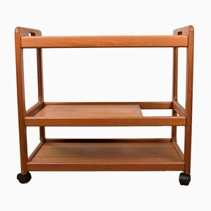 Danish Teak 3-Tier Trolley, 1970s