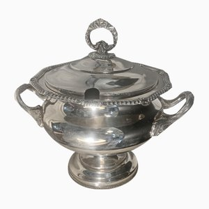 Silver Metal Soup Tureen