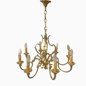Bronze 8-Arm Chandelier, 1920s