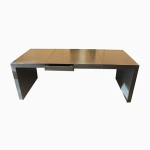 Leather Desk from Poltrona Frau, 1980s