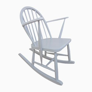 Sky Blue Painted Model 325 Childrens Rocking Chair by Luciano Ercoloni for Ercol, 1950s