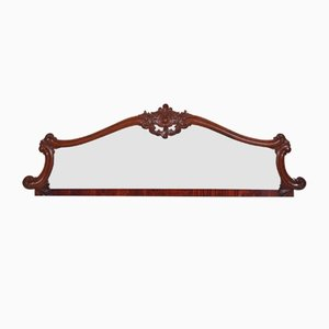 Carved Rosewood Overmantle Wall Mirror