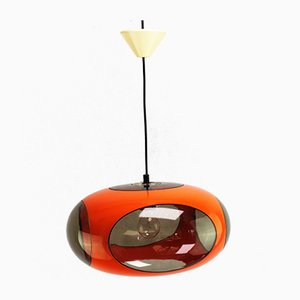 Vintage Orange Ceiling Lamp by Luigi Colani for Massive