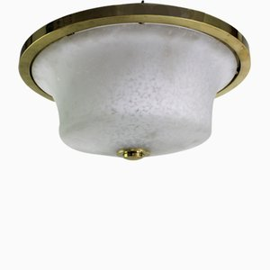Art Deco Brass Ceiling Lamp