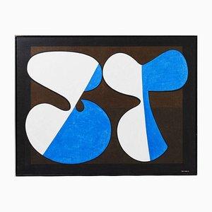 Painting Komposition III de Tore Nyberg, Sweden, años 60
