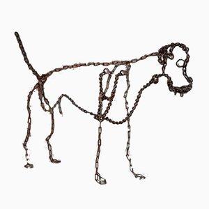 Scultura di cane di Wu Shaoxiang, Cina, anni '80