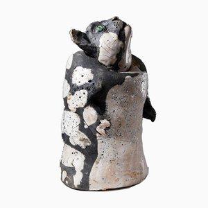 Escultura de cerámica de Gustav Kreitz, Sweden, años 50