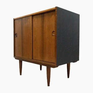 Vintage Danish Rosewood Storage Console Cupboard by Brauer