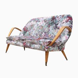 Mid-Century Swedish Velvet Tellus Sofa by Folke Jansson