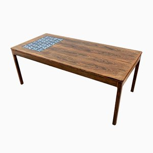 Danish Rosewood Tiled Top Coffee Table from Jason Furniture, 1950s