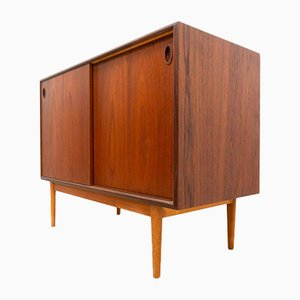 Small Vintage Danish Teak & Oak Sideboard Storage Unit