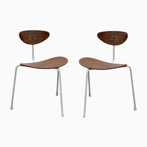 Mid-Century Teak Unicorn Chairs by Ernest Race, 1950s, Set of 2
