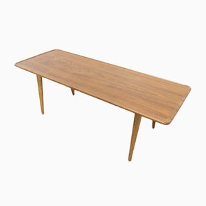 Mid-Century Danish Oak Coffee Table by Hans J Wegner for Andreas Tuck, 1950s