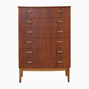 Danish Teak and Oak Chest of Drawers with 6 Drawers, 1960s