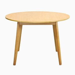 Vintage Beech Round Dining Table, 1960s