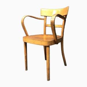 Armlehnstühle aus Buchenholz mit Geschwungenen Armlehnen, 1950er, 2er Set