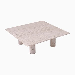 Large Italian Travertine Coffee Table from Up & Up, 1970s