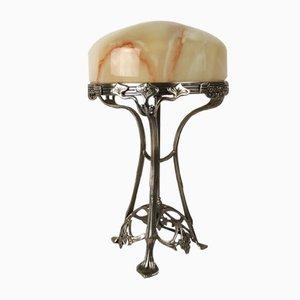 Vintage Art Nouveau Style Table Lamp, 1970s