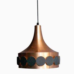 Verkupferte Hängelampe von Doria Leuchten, 1960er