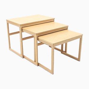 Satztische aus Eichenholz von Svante Skogh für Seffle Möbelfabrik, 1960er, 3er Set