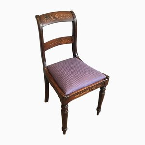 19th Century French Charles the Xth Rosewood and Lemon Tree Chairs Attributed to Jeanselme, Set of 3