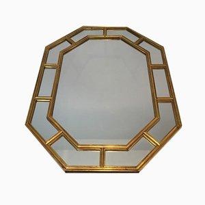 Achteckiger Französischer Spiegel mit Harzrahmen, 1970er